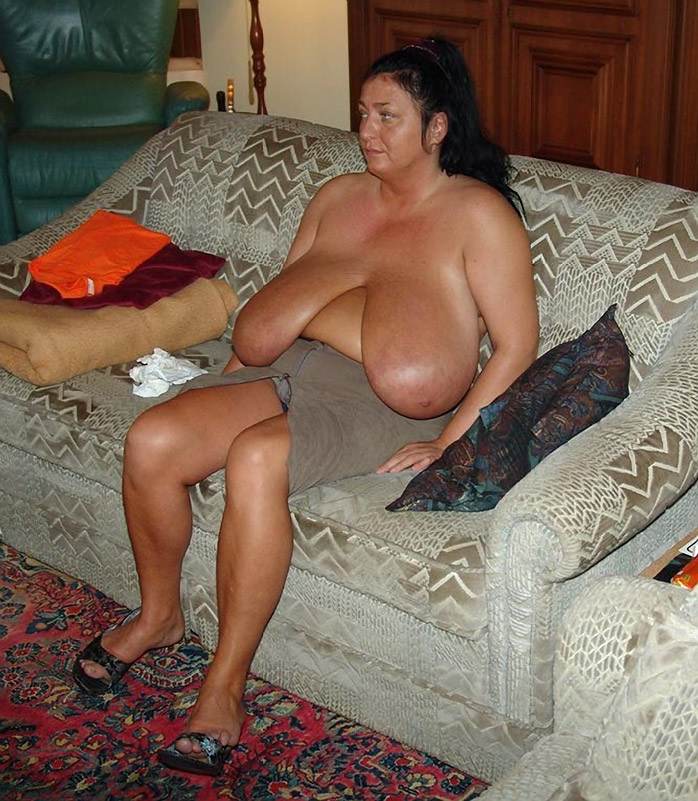 Saggy tits mature women