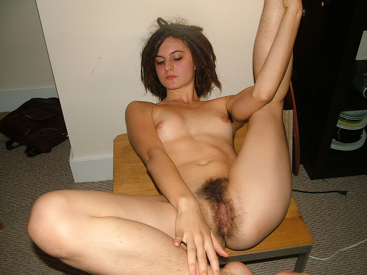 Girls natural hairy